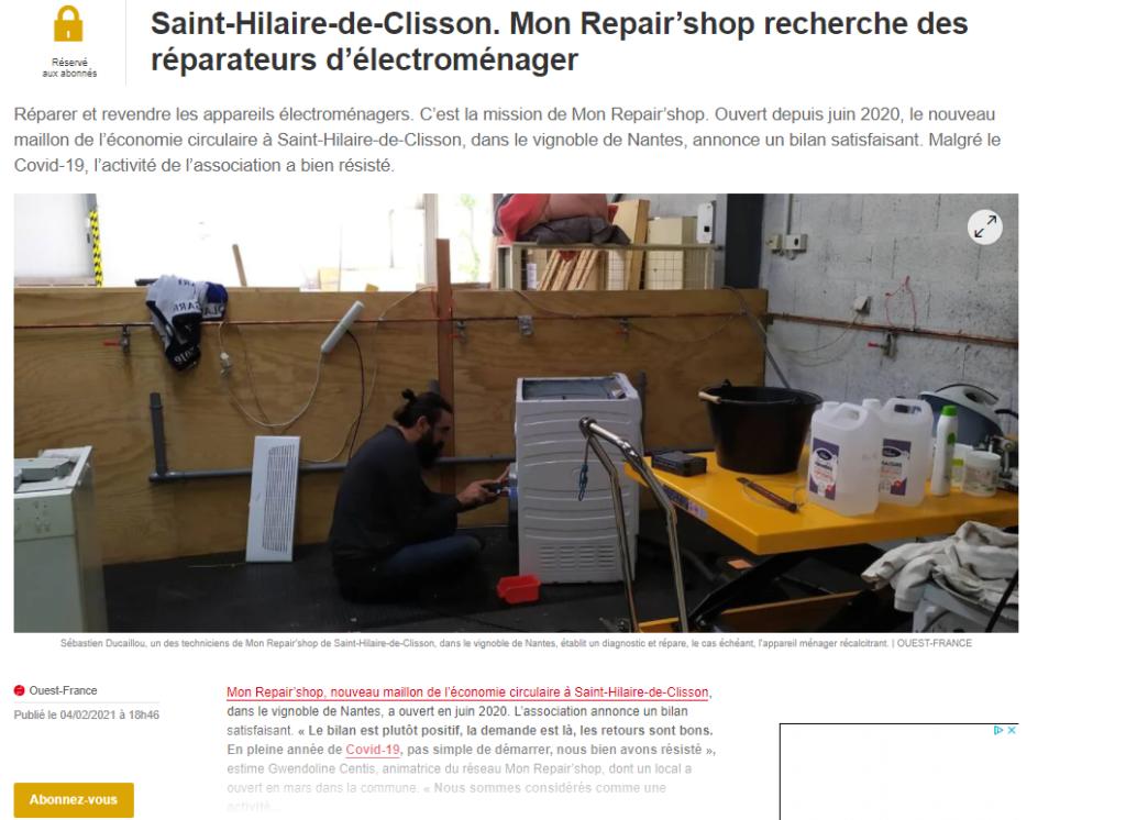 Mon Repur Shop recherche des réparateurs
